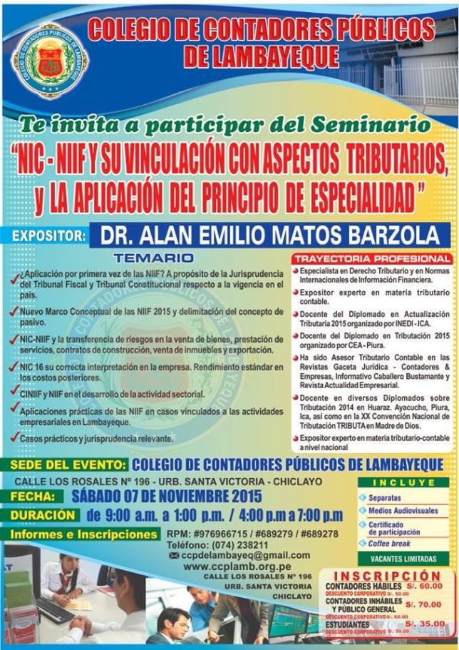 Seminario en Chiclayo 2015